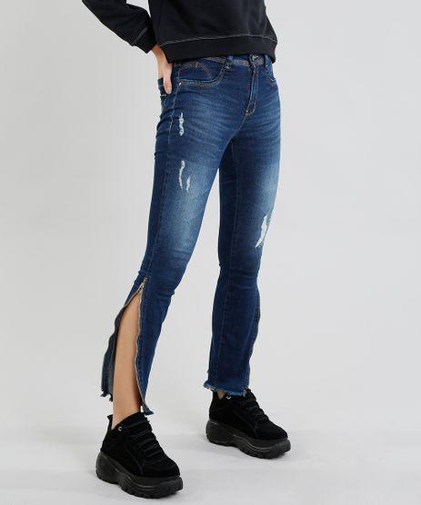Calca-Jeans-Feminina-Sawary-Cigarrete-com-Puidos-e-Ziper-Azul-Escuro-9472022-Azul_Escuro_1
