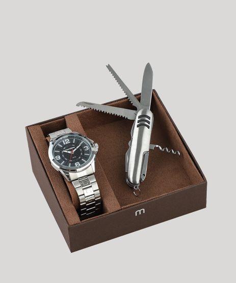 Kit-de-Relogio-Analogico-Mondaine-Masculino---Canivete---83419G0MVNE1KA-Prateado-9507672-Prateado_1