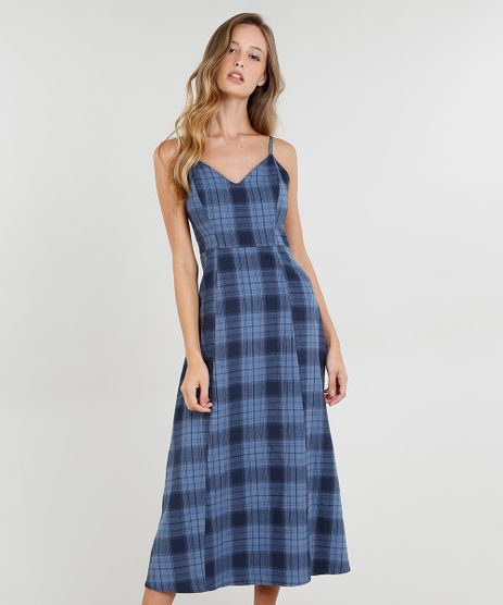 Vestido-Midi-Feminino-Mindset-Estampado-Xadrez-em-Flanela-Alcas-Finas-Azul-9540855-Azul_1