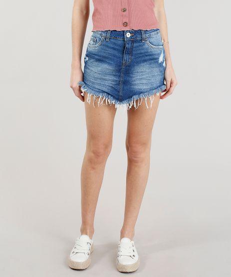 Saia-Jeans-Feminina-Diamond-e-Barra-Desfiada-Azul-Escuro-9102251-Azul_Escuro_1