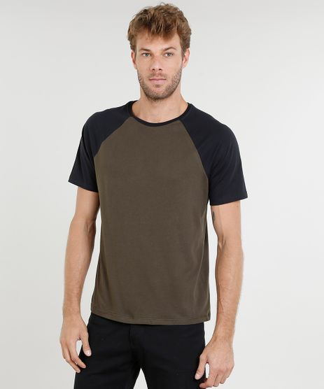 Camiseta-Masculina-Raglan-Basica-Manga-Curta-Decote-Careca-Verde-Militar-8808223-Verde_Militar_1
