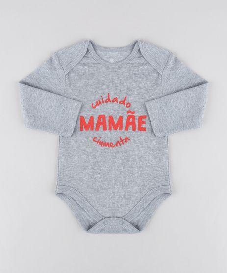 Body-Infantil--Mamae-Ciumenta--Manga-Longa-Decote-Redondo-Cinza-Mescla-9208152-Cinza_Mescla_1