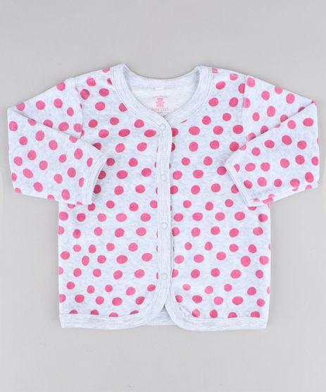 Cardigan-Infantil-Estampado-de-Poa-em-Plush-Cinza-Mescla-Claro-9195535-Cinza_Mescla_Claro_1