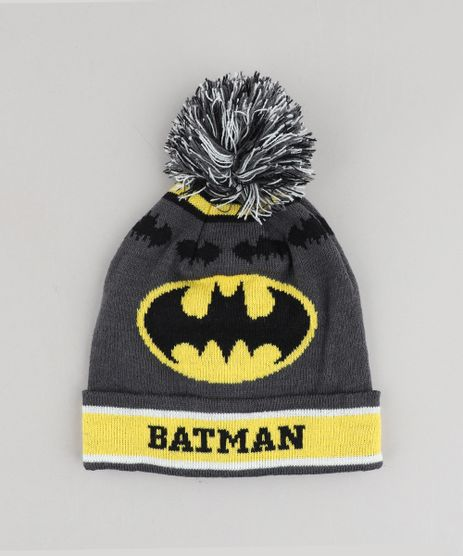 Gorro-Infantil-Batman-com-Pompom-Chumbo-9358528-Chumbo_1