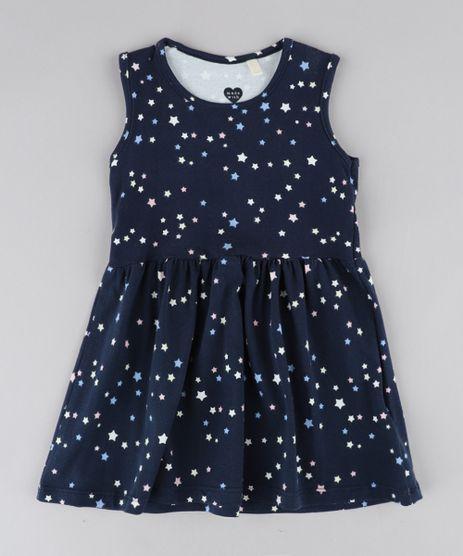 Vestido-Infantil-Estampado-de-Estrelas-Sem-Manga-Azul-Marinho-9415478-Azul_Marinho_1
