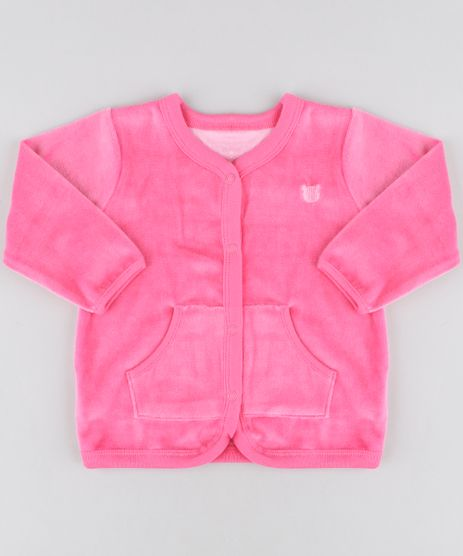 Cardigan-Infantil-com-Bolsos-em-Plush-Pink-9195535-Pink_1