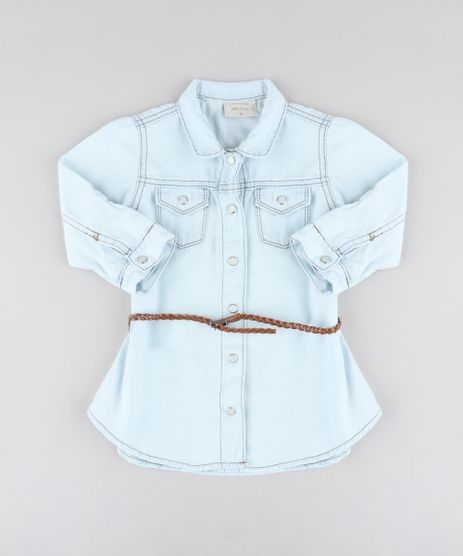 Vestido-Chemise-Jeans-Infantil-com-Bolsos-e-Cinto-Manga-Longa-Azul-Claro-9418162-Azul_Claro_1