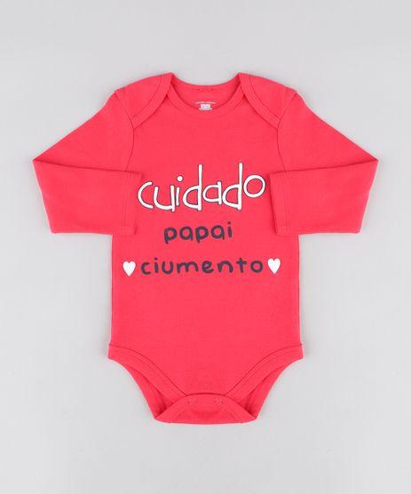 Body-Infantil--Papai-Ciumento--Manga-Longa-Decote-Redondo-Rosa-Escuro-9208124-Rosa_Escuro_1