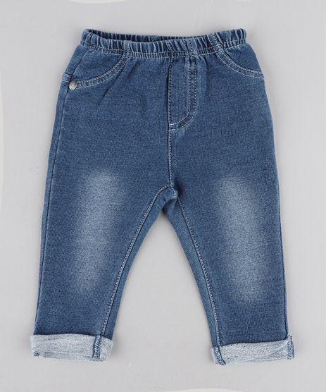Calca-Jeans-Infantil-em-Moletom-Azul-Medio-9201524-Azul_Medio_1