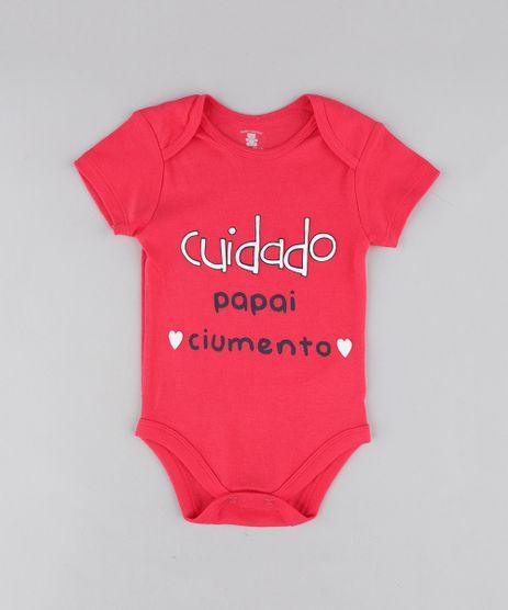 Body-Infantil--Papai-Ciumento--Manga-Curta-Decote-Redondo-Rosa-Escuro-9208120-Rosa_Escuro_1