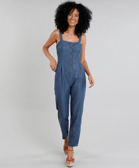 Macacao-Jeans-Feminino-com-Botoes-Azul-Escuro-9337576-Azul_Escuro_1