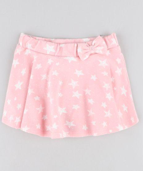 Short-Saia-Infantil-Estampado-de-Estrelas-com-Laco-Rosa-9416203-Rosa_1
