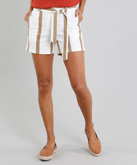 Short-Feminino-Listrado-em-Linho-com-Faixa-Off-White-9378597-Off_White_1