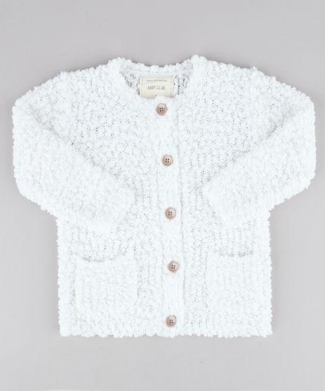 Cardigan-Infantil-com-Bolsos-em-Trico-Texturizado-Branco-9345923-Branco_1