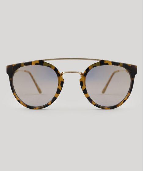 ebaffaf18ef0d Oculos-de-Sol-Redondo-Feminino-Oneself-Tartaruga-9524181- ...