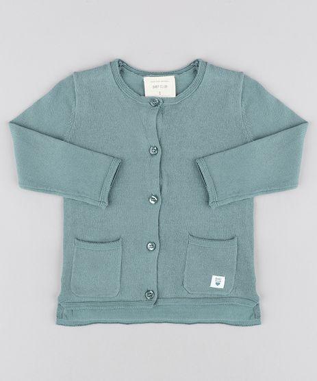 Cardigan-Infantil-com-Bolsos-em-Trico-Verde-9345928-Verde_1