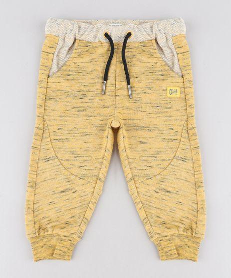 Calca-Infantil-em-Moletom-Mescla-Amarela-9340460-Amarelo_1