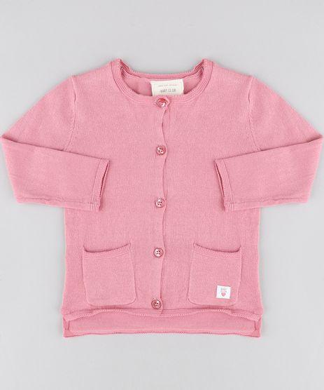 Cardigan-Infantil-com-Bolsos-em-Trico-Rosa-Escuro-9345919-Rosa_Escuro_1