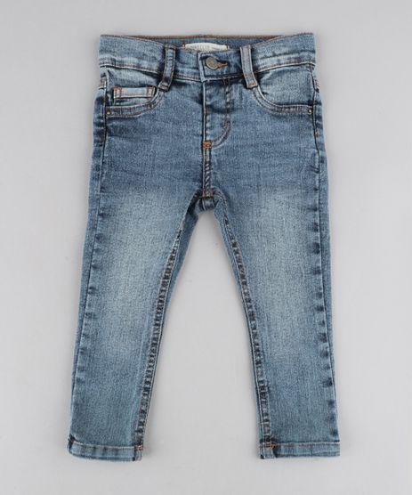 Calca-Jeans-Infantil-com-Barra-Colorida-Azul-Medio-9435460-Azul_Medio_1