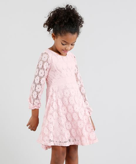 Vestido-Infantil-em-Renda-Manga-Longa-Rosa-9450239-Rosa_1