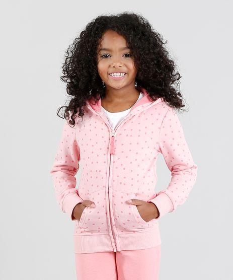 Blusao-Infantil-Estampado-de-Poa-com-Capuz-em-Moletom-Rosa-Claro-9362179-Rosa_Claro_1