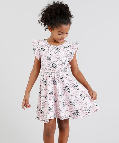 Vestido-Infantil-Estampado-Floral-com-Babado-Manga-Curta-Rosa-Claro-9328154-Rosa_Claro_1