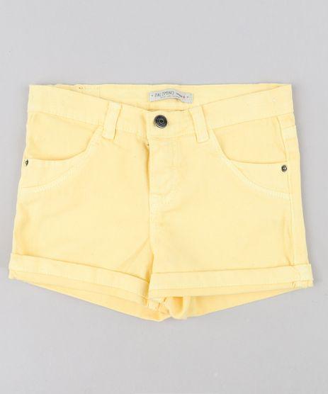 Short-Color-Infantil-com-Bolsos-Barra-Dobrada-Amarelo-9243179-Amarelo_1