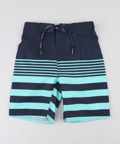 Bermuda-Surf-Infantil-com-Listras-e-Cordao-Verde-Claro-9243390-Verde_Claro_1