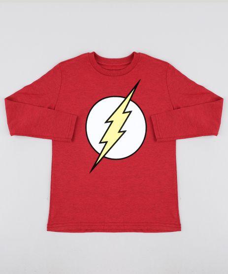 Camiseta-Infantil-The-Flash-Manga-Longa-Gola-Careca-Vermelha-9465486-Vermelho_1