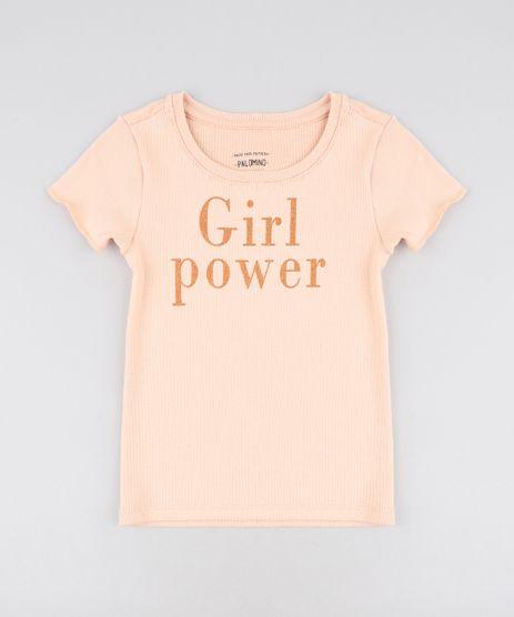 Blusa-Infantil-Canelada--Girl-Power--com-Glitter-Manga-Curta-Decote-Redondo-Laranja-Claro-9457393-Laranja_Claro_1
