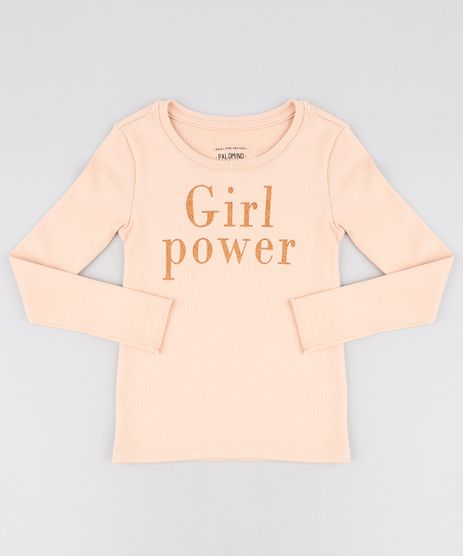 Blusa-Infantil-Canelada--Girl-Power--com-Glitter-Manga-Longa-Decote-Redondo-Laranja-Claro-9457398-Laranja_Claro_1