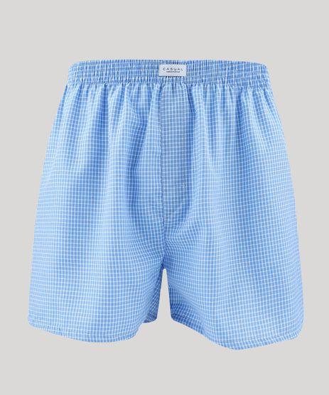 Samba-Cancao-Masculina-Estampada-Xadrez-Azul-Claro-9477284-Azul_Claro_1