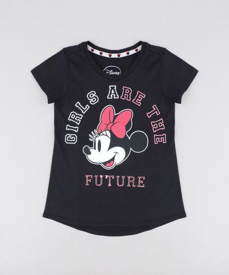 Blusa-Infantil-Minnie-com-Paete-Manga-Curta-Decote-Redondo-Preta-9406274-Preto_1