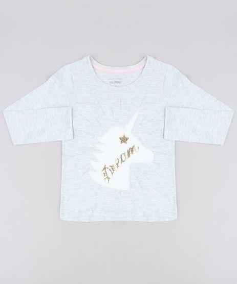 Blusa-Infantil-Unicornio-com-Pelo-Manga-Longa-Decote-Redondo-Cinza-Mescla-Claro-9457387-Cinza_Mescla_Claro_1