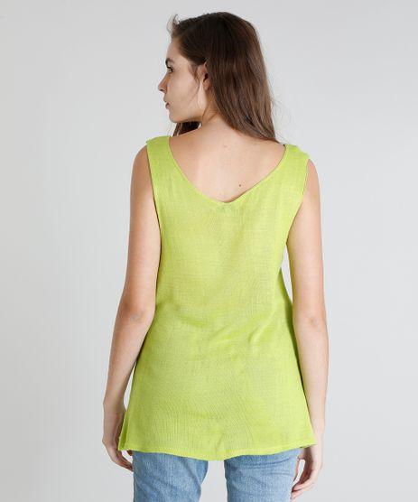 Regata-Feminina-Mindset-em-Trico-Decote-V-Amarelo-Neon-9357710-Amarelo_Neon_2
