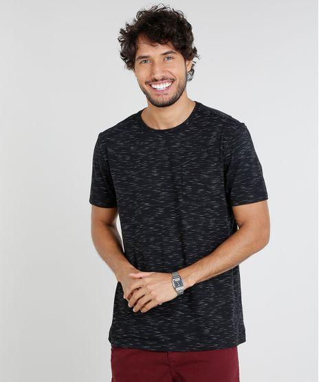 Camiseta-Masculina-Basica-com-Bolso-Manga-Curta-Gola-Careca-Preta-9286099-Preto_1