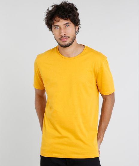 Camiseta-Masculina-Basica-Manga-Curta-Gola-Careca--Mostarda-9451463-Mostarda_1
