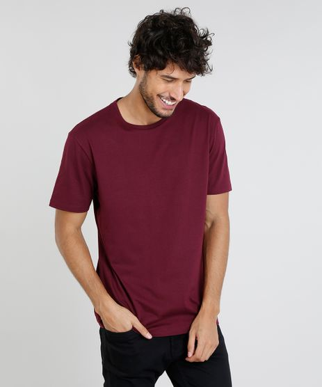 Camiseta-Masculina-Basica-Manga-Curta-Gola-Careca--Vinho-9451464-Vinho_1