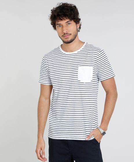 Camiseta-Masculina-Basica-Listrada-com-Bolso-Manga-Curta-Gola-Careca-Branca-9457722-Branco_1