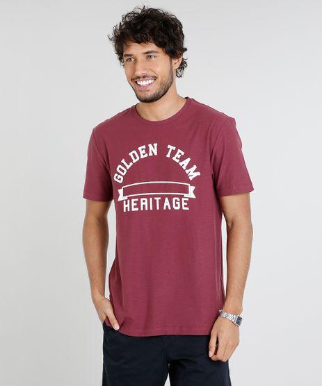 Camiseta-Masculina--Golden-Team--Manga-Curta-Gola-Careca-Vinho-9455926-Vinho_1