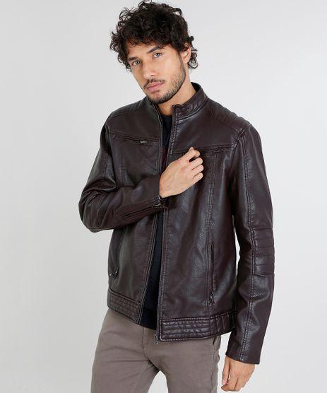 Jaqueta-Masculina-Biker-com-Bolsos-Vinho-9357809-Vinho_1