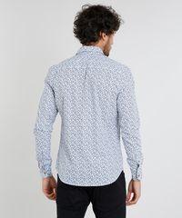 519e5dbd76 Camisa Masculina Slim Estampada de Folhagem com Bolso Manga Curta ...