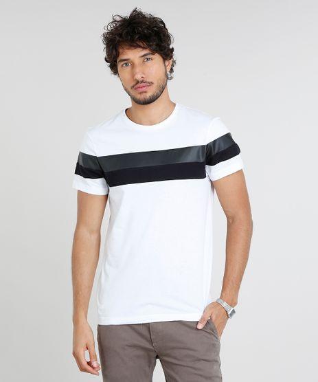 Camiseta-Masculina-Slim-Fit-com-Recorte-Manga-Curta-Gola-Careca-Branca-9455587-Branco_1