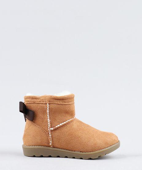 Bota-Infantil-com-Pelo-e-Laco-Caramelo-9441814-Caramelo_1