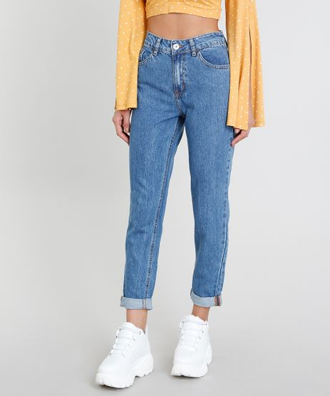 Calca-Jeans-Feminina-Mom-Pants-Azul-Medio-9204362-Azul_Medio_1