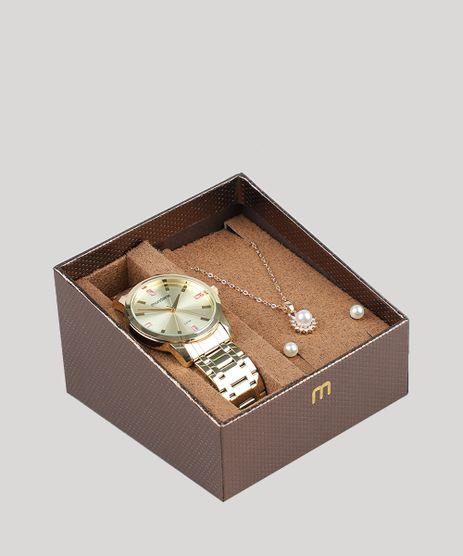 Kit-de-Relogio-Analogico-Mondaine-Feminino---Brinco---Colar---99308LPMGDE1K1-Dourado-9527709-Dourado_1