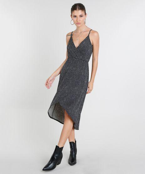 Vestido-Feminino-Midi-Transpassado-Estampado-de-Poa-Alca-Fina-Preto-9447651-Preto_1