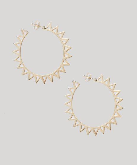 Brinco-Feminino-de-Argola-Geometrica-Dourado-9435774-Dourado_1