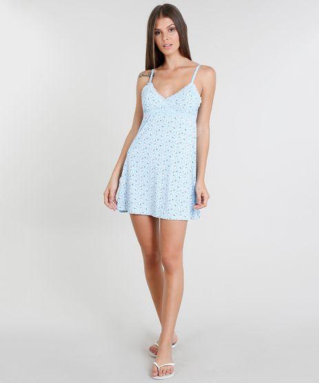 Camisola-Feminina-Estampada-de-Pinguim-Azul-Claro-9378060-Azul_Claro_1