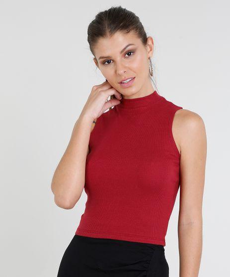 Regata-Feminina-Cropped-Gola-Alta-Basica-Canelada-Vinho-8449098-Vinho_1